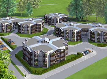 Шесть трехэтажных домов
